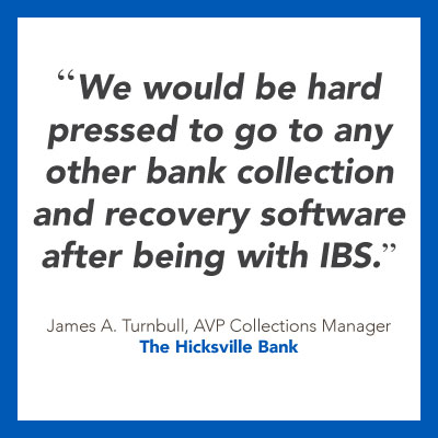Software for banks quote from The Hicksville Bank.